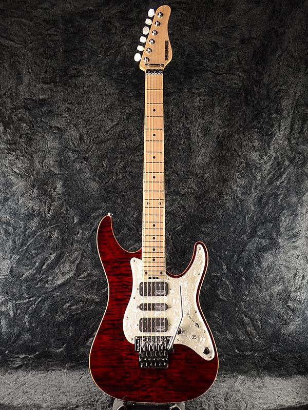 Schecter EX-V-24 CTM FRT 4A Grade -BKCH- 新品 レッド[シェクター][Stratocaster,ストラトキャスタータイプ][Red,赤][Electric Guitar,エレキギター]