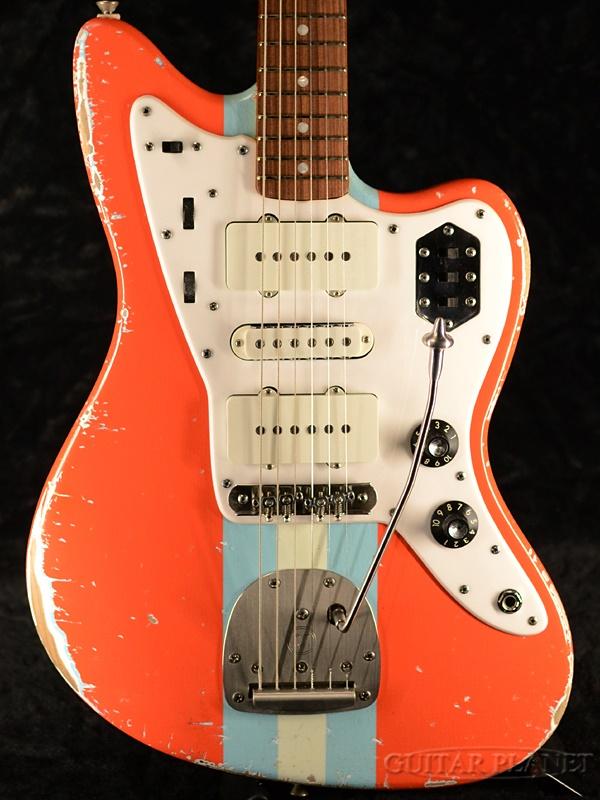 【当店カスタムオーダー品】Shelton Galaxy Flite III -Gulf Orange Stripe- 新品[シェルトン][Jazzmaster,ジャズマスタータイプ][オレンジ][Electric Guitar,エレキギター]
