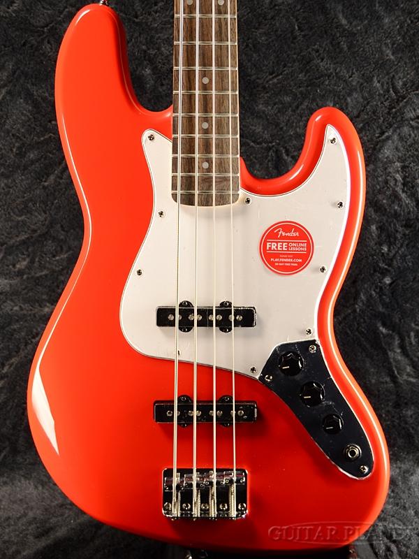 Squier Affinity Jazz Bass Race Red 新品[スクワイヤー][アフィニティー][レースレッド,赤][JB,ジャズベース][Electric Bass,エレキベース]