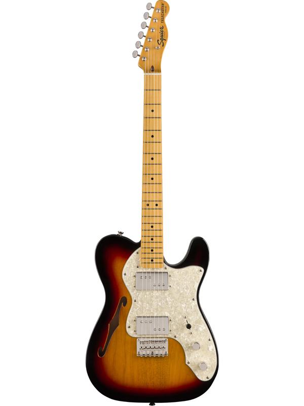 Squier Classic Vibe 70s Telecaster Thinline -3 Color Sunburst- 新品 3カラーサンバースト[スクワイヤー][テレキャスターシンライン][Electric Guitar,エレキギター]
