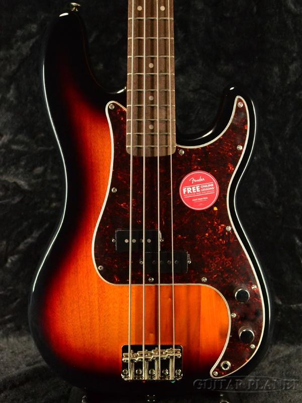 Squier Classic Vibe 60s Precision Bass -3 Color Sunburst- 新品 3カラーサンバースト[スクワイヤー][プレシジョンベース,プレベ][Electric Bass,エレキベース]