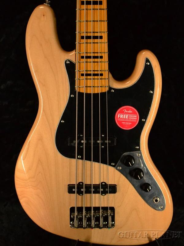 Squier Classic Vibe 70s Jazz Bass V -Natural- 新品 ナチュラル[スクワイヤー][5strings,5弦][Jazz Bass,ジャズベース][Electric Bass,エレキベース]