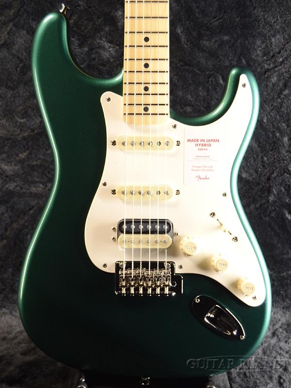 Fender Made in Japan Hybrid 50s Stratocaster HSS -Sherwood Green Metallic- 新品 《レビューを書いて特典プレゼント!!》[フェンダージャパン][ハイブリッド][グリーン,緑][ストラトキャスター][Electric Guitar,エレキギター]
