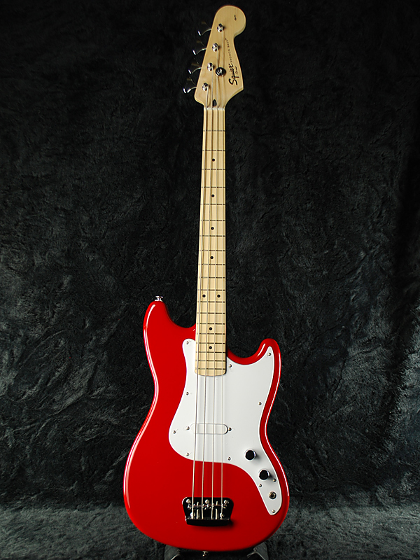 Squier Bronco Bass TRD 新品 トリノレッド [スクワイヤー][ブロンコ][ショートスケール,Short Scale][Torino Red,赤][Electric Bass,エレキベース]