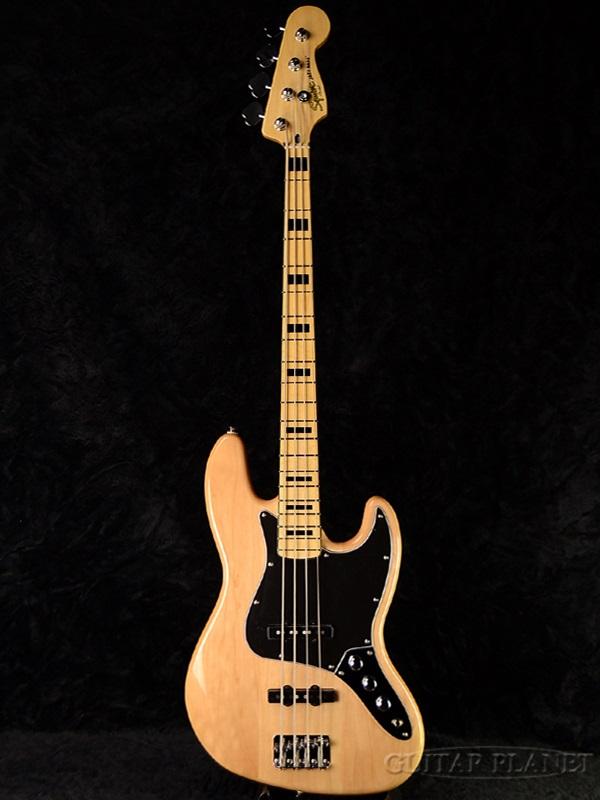 Squier Vintage Modified Jazz Bass 70s NAT 新品 スクワイヤー Natural ナチュラル ジャズベース JB Electric Bass エレキベース 70's 季節のご挨拶 法要 七五三 プレゼント