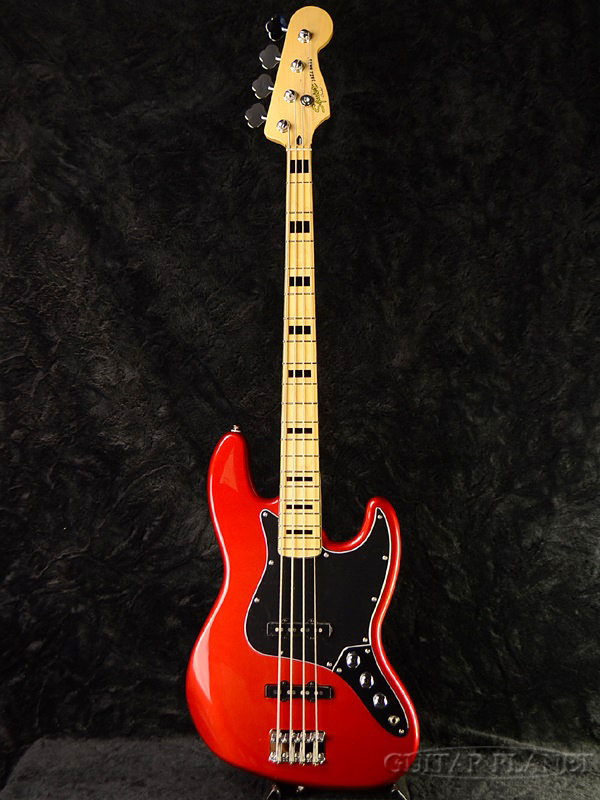 Squier Vintage Modified Jazz Bass 70s CAR 新品[スクワイヤー][Candy Apple Red,キャンディアップルレッド,赤][ジャズベース,JB][Electric Bass,エレキベース][70s]
