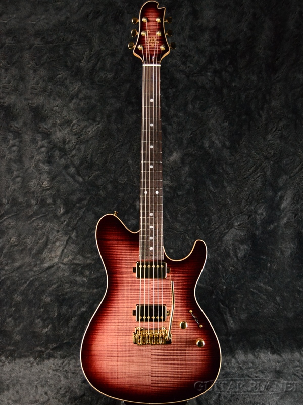 Sugi DS496IR FM/AT/A-MAHO -DW2- 新品[スギ][国産][ワインレッド,赤][Electric Guitar,エレキギター]