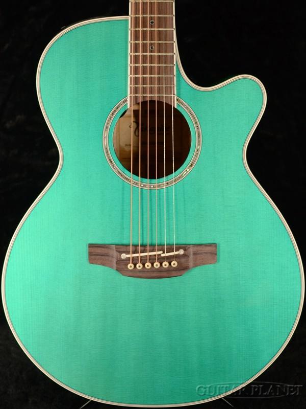 【当店オリジナルオーダー品】Takamine 100CUSTOM ~PTU100GP CTM~ Turquoise Blue 新品[タカミネ][国産][ターコイズブルー,青][Electric Acoustic Guitar,アコギ,アコースティックギター,エレアコ]