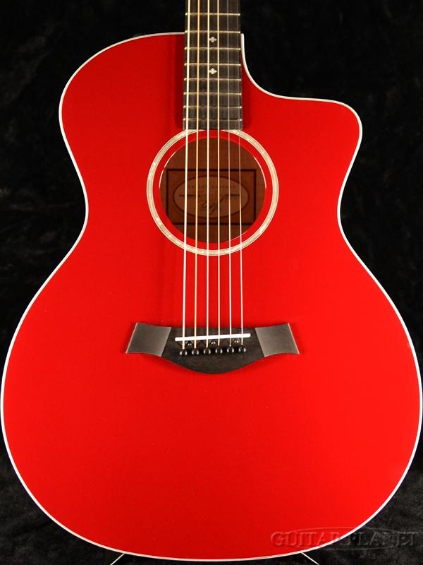 Taylor 214ce DLX RED #2109059475 新品[テイラー][レッド,赤][アコースティックギター,アコギ,Acoustic Guitar,フォークギター,Folk Guitar]
