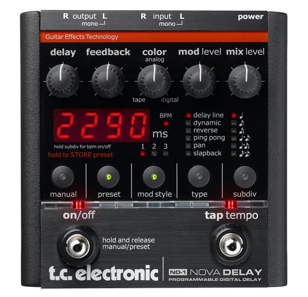 t.c.electronic NOVA DELAY ND-1 新品 TCエレクトロニック ディレイ 日本未発売 Effector エフェクター 割引も実施中 ノヴァディレイ