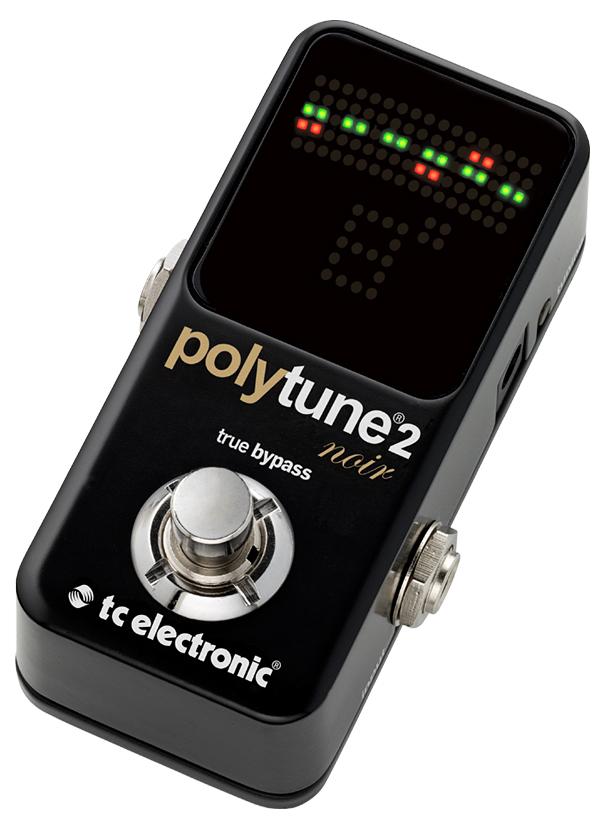 t.c.electronic polytune 2 Noir ブラック 新品 ギターチューナー[TCエレクトロニック][mini,ポリチューンミニ][ポリフォニックチューナー][ノワール,Black,黒][Chromatic Tuner,クロマチック][Pedal Tuner,ペダルチューナー]