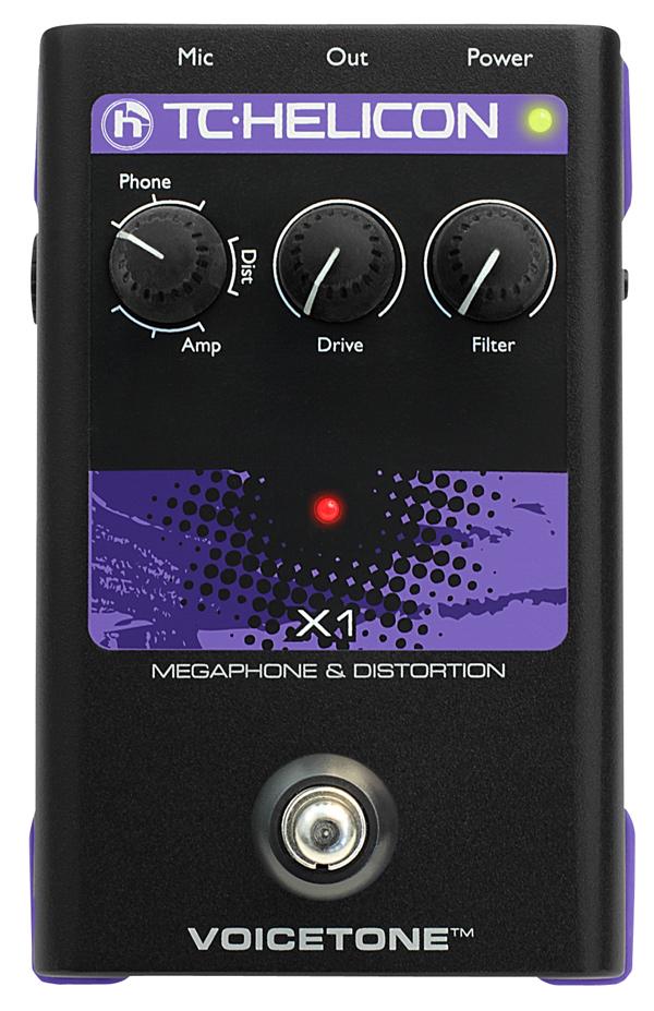 TC HELICON VoiceTone X1 新品 ヴォーカル用エフェクター[TCヘリコン,t.c.electronic,TCエレクトロニック][Vocal Effector][Distortison,歪み]