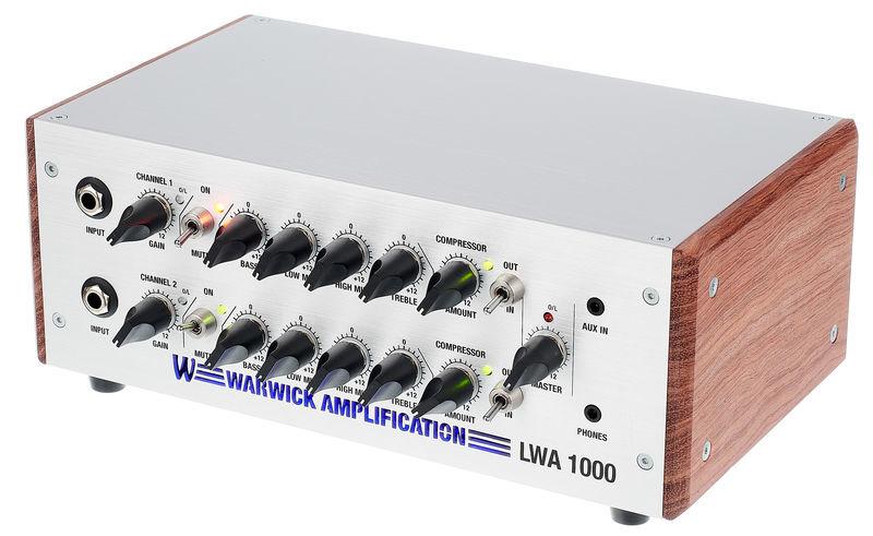 【1000W】Warwick LWA 1000 Bass Amphead 新品 ベース用アンプヘッド[ワーウィック][独立2CH][Bass amplifier]