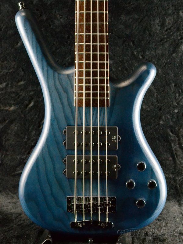 Warwick RockBass Corvette $$ 5st -Ocean Blue Transparent Satin- 新品 オーシャンブルー[ワーウィック][5弦,5Strings][青][ロックベース][Electric Bass,エレキベース]