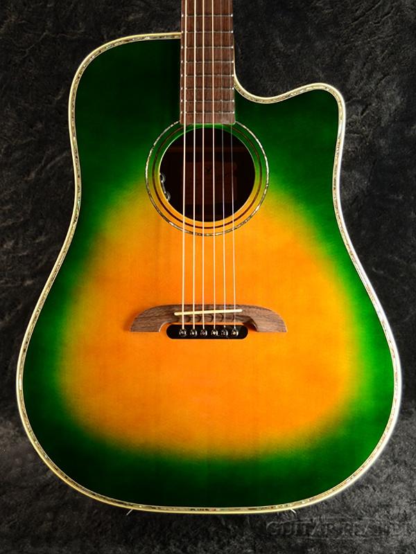 【新品アウトレット】K.Yairi DY-70CE GB ~Green Burst~【規格外カスタムモデル】新品[Kヤイリ][国産][グリーンバースト,緑][Acoustic Guitar,アコースティックギター,Folk Guitar,フォークギター]