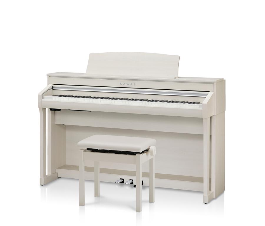 【ヘッドホン、専用高低自在椅子付】KAWAI CA58A プレミアムホワイトメープル調仕上げ Digital Piano 新品 電子ピアノ[河合,カワイ][88鍵盤][白][Digital Piano,デジタル,エレピ][CA-58]