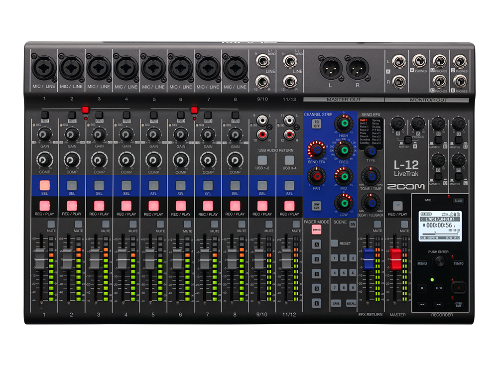 ZOOM LiveTrak L-12 Live Mixer Recorder 新品 ミキサー/レコーダー[ズーム][ライブトラック]