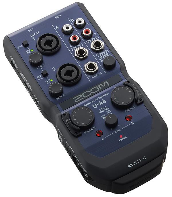 ZOOM U-44 Handy Audio Interface 新品[ズーム][4in/4out][電池駆動][iPad対応][オーディオインターフェース][U44]