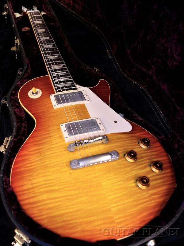 Paul Cherry -Heritage Paul,レスポールタイプ][サンバースト][Electric top 【中古】Gibson ~Historic Custom Guitar,エレキギター]【used_エレキギター】 Sunburst- 1959 Shop Collection~ Figured Reissue 2000年製[ギブソンカスタムショップ][Les Les