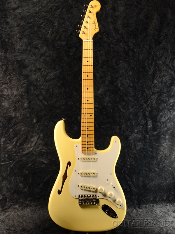 Fender USA Eric Johnson Thinline Stratocaster Vintage White 新品[フェンダー][エリックジョンソン][ヴィンテージホワイト][シンラインストラトキャスター][Electric Guitar,エレキギター]