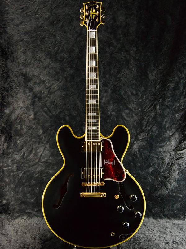 【現地選定品】Gibson Custom Shop Limited Run ES-355 Ebony VOS -Ebony Fingerboard- #B98005 新品[ギブソン][カスタムショップ][Black,ブラック,エボニー,黒][セミアコ][Electric Guitar,エレキギター][ES355]