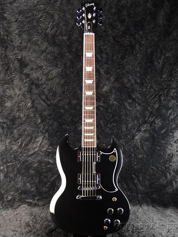 【2018 MODEL】Gibson SG Standard 2018 Ebony 新品[ギブソン][スタンダード][エボニー,黒][Electric Guitar,エレキギター]