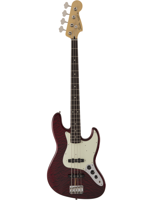 Fender FSR Made in Japan Hybrid 60s Jazz Bass Quilt Top / Transparent Red 新品[フェンダージャパン][ハイブリッド][Red,レッド,赤][JB,ジャズベース][Electric Bass,エレキベース]