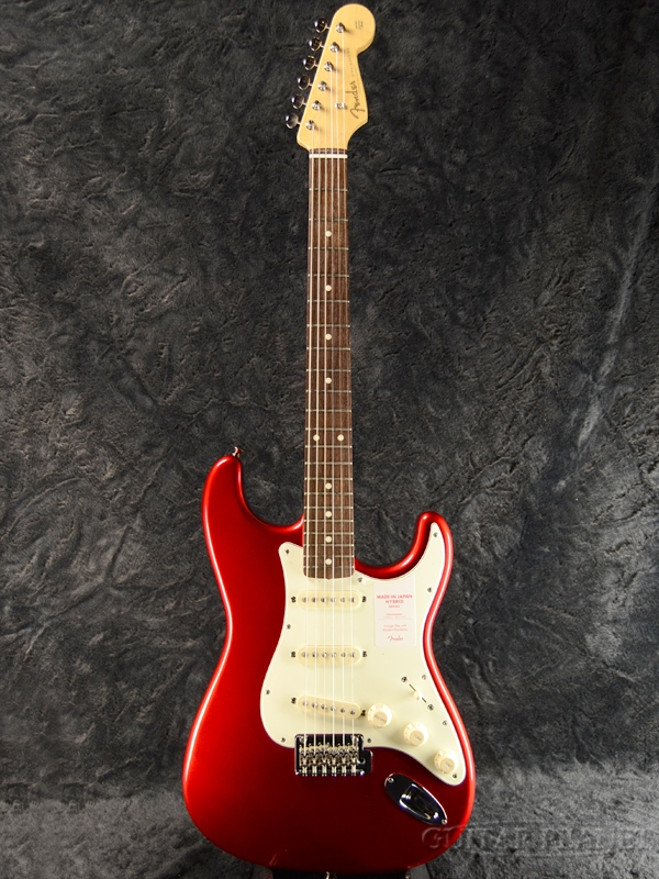 Fender Made In Japan Hybrid 60s Stratocaster Candy Apple Red 新品 《レビューを書いて特典プレゼント!!》[フェンダージャパン][ハイブリッド][キャンディアップルレッド,赤][ストラトキャスター][Electric Guitar,エレキギター]