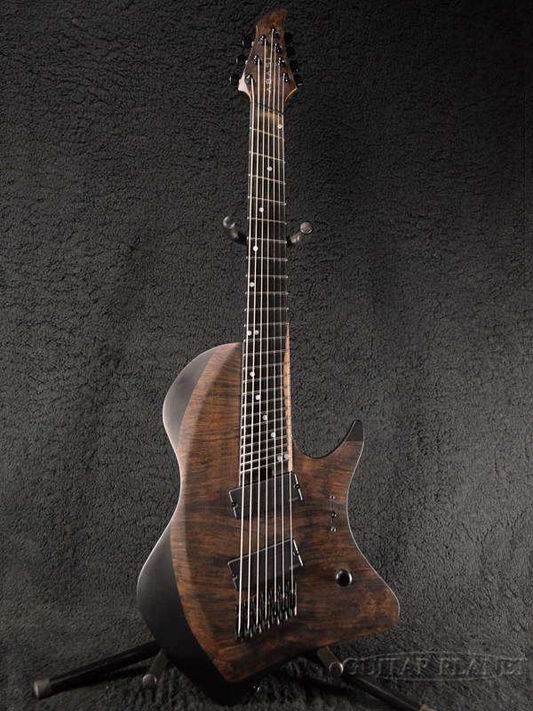 ABASI Guitars 7 Multi Scale Fanned Fret Burl Maple Satin Black 新品未使用正規品 Ebony 7弦 Guitar 黒 エレキギター アバシギターズ 新品 マルチスケール 7strings Electric ファンドフレット 割引 サテンブラック