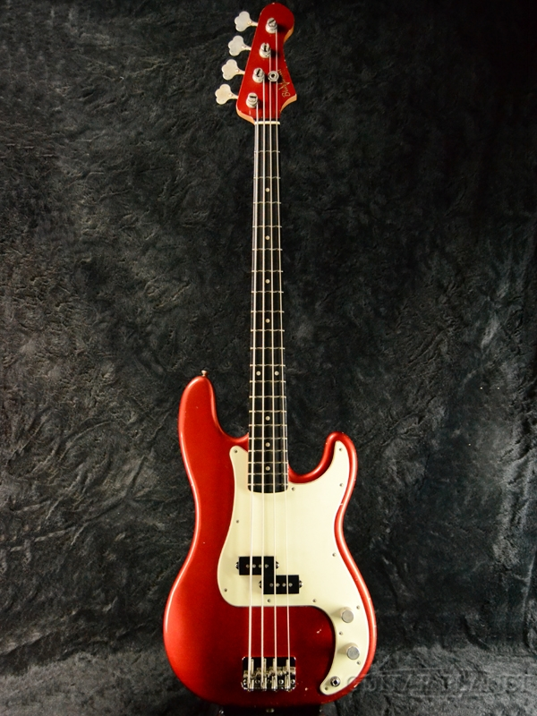 Bluesman Vintage Deville -Candy Apple Red/Matching Head 新品[ブルースマン][Relic,Aged,レリック,エイジド][キャンディアップルレッド,赤][Electric Bass,エレキベース]