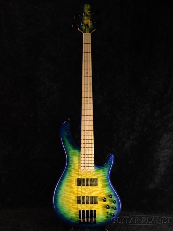 【1本物!!カスタムカラー!!】STR LS449 -Custom Burst- 新品[国産][Blue,Green,ブルー,グリーン,バースト,青,緑][Electric Bass,エレキベース]