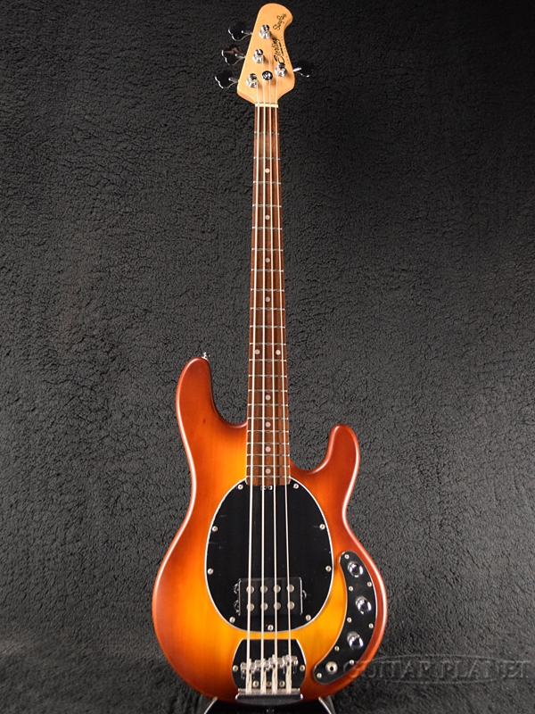 【ERNIE BALL弦プレゼント】Sterling by MUSIC MAN Ray4 -Honey Burst Satin- 新品[スターリン][ミュージックマン][スティングレイ][ハニーバーストサテン,茶色][Electric Bass,エレキベース]