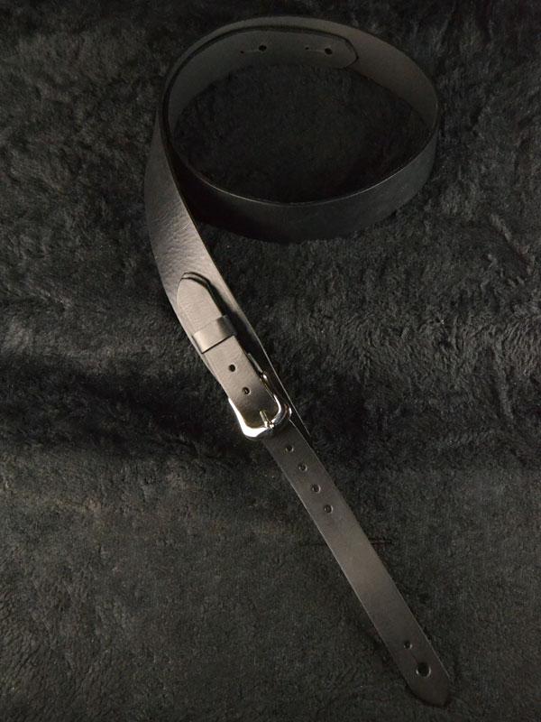 Bear Straps Slimline Classic Black / Silver 新品 [ベアストラップ][ブラック,黒,クローム,シルバー][Leather Strap,レザーストラップ,革][ギター/ベース用]