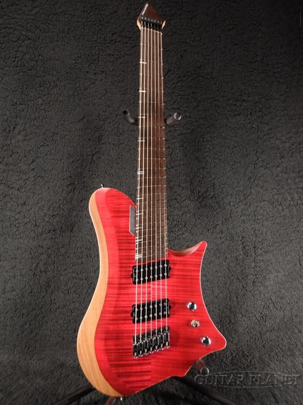 C.GIG Y-REF Single Cut -Trans 赤- 新品[Cギグ][トランスレッド,赤][シングルカッタウェイ][7strings,7弦][ヘッドレス][Electric Guitar,エレキギター]