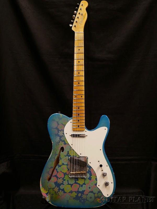 【中古】Fender Custom Shop ~2017-18 LIMITED EDITION~ 1950's Thinline Telecaster Relic -Blue Flower- 2018年製[フェンダー][カスタムショップ][ブルーフラワー][テレキャスター][Electric Guitar]【used_エレキギター】