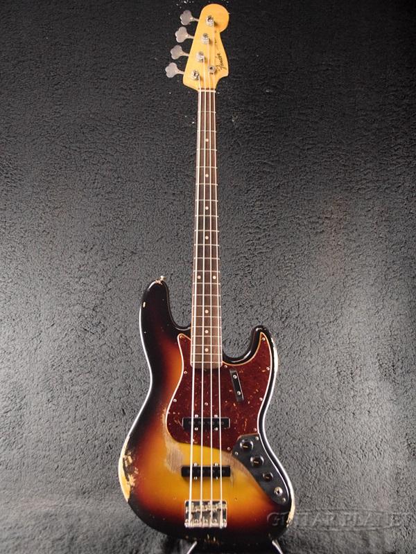 Fender Custom Shop MBS 1960 Jazz Bass Relic -3 Color Sunburst- by Dennis Galuszka 新品[フェンダーカスタムショップ,CS][サンバースト,木目][JB,ジャズベース,ジャズベ][Electric Bass,エレキベース]