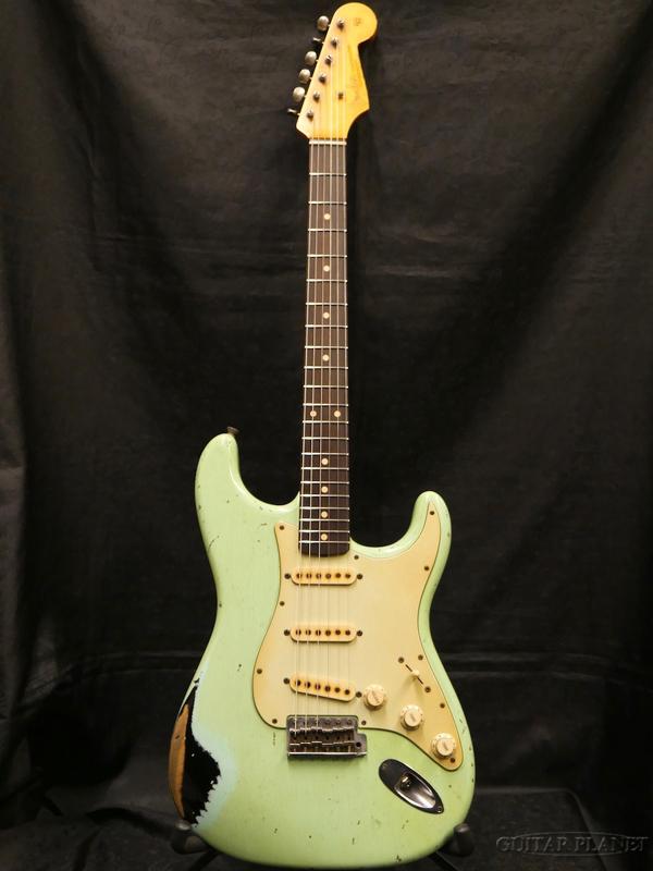 【中古】Fender MBS 1962 Stratocaster Heavy Relic -Faded Surf Green over Black- by John Cruz 2017年製[フェンダーカスタムショップ][ジョンクルーズ][ストラトキャスター][サーフグリーン,ブラック,緑,黒][Electric Guitar,エレキギター]