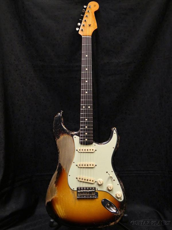 【中古】Fender Custom Shop MBS 1963 Stratocaster Heavy Relic -3 Color Sunburst- by Dale Wilson 2017年製[フェンダーカスタムショップ][Stratocaster,ストラトキャスタータイプ][サンバースト,木目]【used_エレキギター】