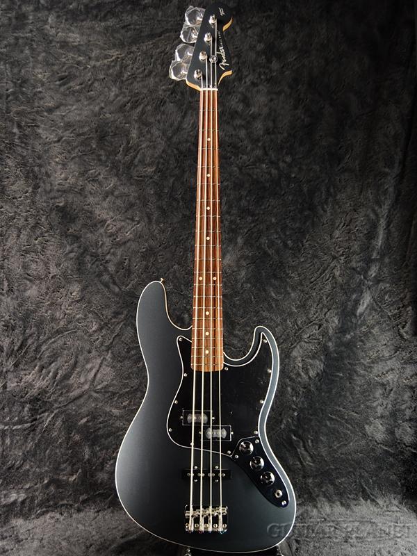 《HATAノブ搭載!!》Fender Japan Aerodyne Jazz Bass GMB (AJB) × HATA ハットノブ -BLACK- 新品[フェンダー,ハタ][ジャパン][エアロダイン][ガンメタブルー][ジャズベース][Black,黒][エレキベース,Electric Bass]
