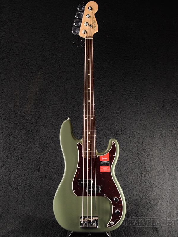 Fender USA American Professional Precision Bass -Antique Olive / Rosewood-