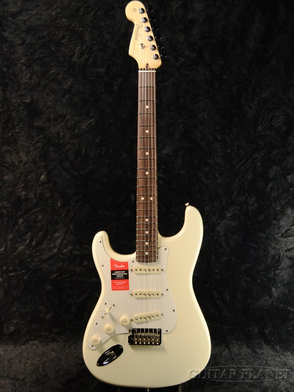 Fender USA American Professional Stratocaster Lefty - Olympic White / Rose- 新品 《レビューを書いて特典プレゼント!!》[フェンダー][アメリカンプロフェッショナル,アメプロ][左用][オリンピックホワイト,白][ストラトキャスター][Electric Guitar,エレキギター]