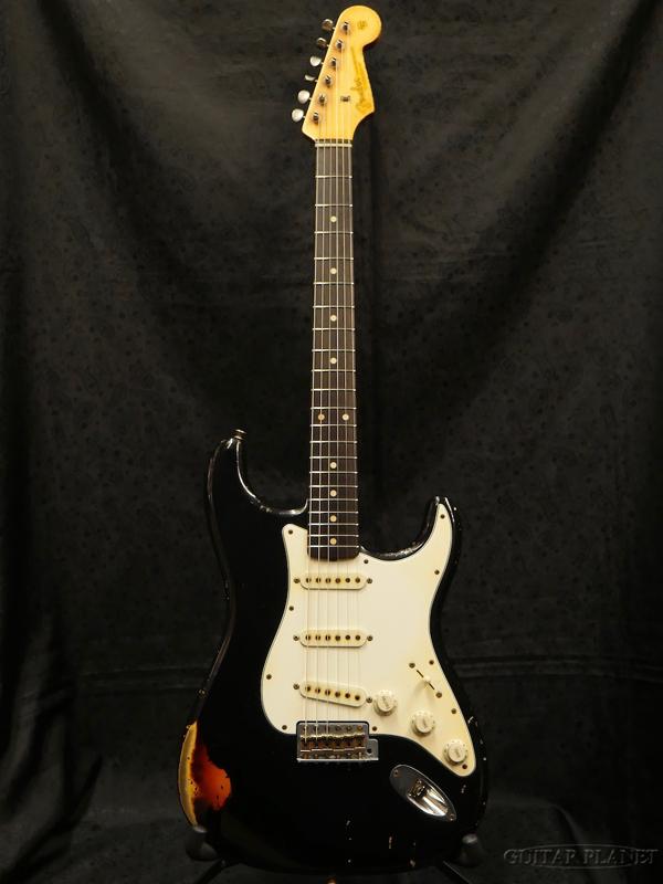 【中古】Fender Custom Shop MBS 1961 Stratocaster Heavy Relic -Black over 3 Color Sunburst- by John Cruz 2015年製[フェンダーカスタムショップ][ジョンクルーズ][ストラトキャスター][サンバースト,ブラック,黒,木目][Electric Guitar,エレキギター]