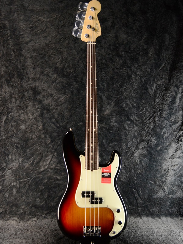 Fender USA American Professional Precision Bass 3-Color Sunburst 新品[フェンダー][アメリカンプロフェッショナル,アメプロ][3カラーサンバースト][プレシジョンベース,プレべ,PB][Electric Bass,エレキベース]