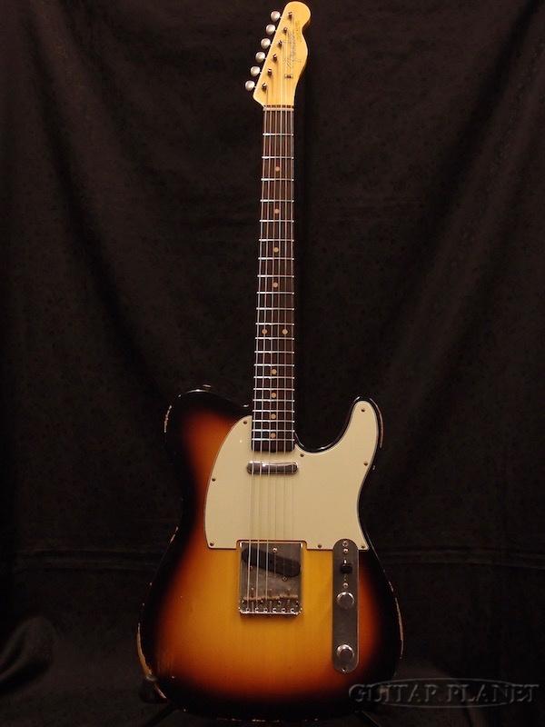 【1本限定当店オーダーモデル】Fender Custom Shop ''Guitar Planet Exclusive'' 1961 Telecaster Relic -Aged 3 Color Sunburst- 新品[フェンダー][TL,テレキャスタータイプ][ブラック,黒][Electric Guitar,エレキギター]【used_エレキギター】