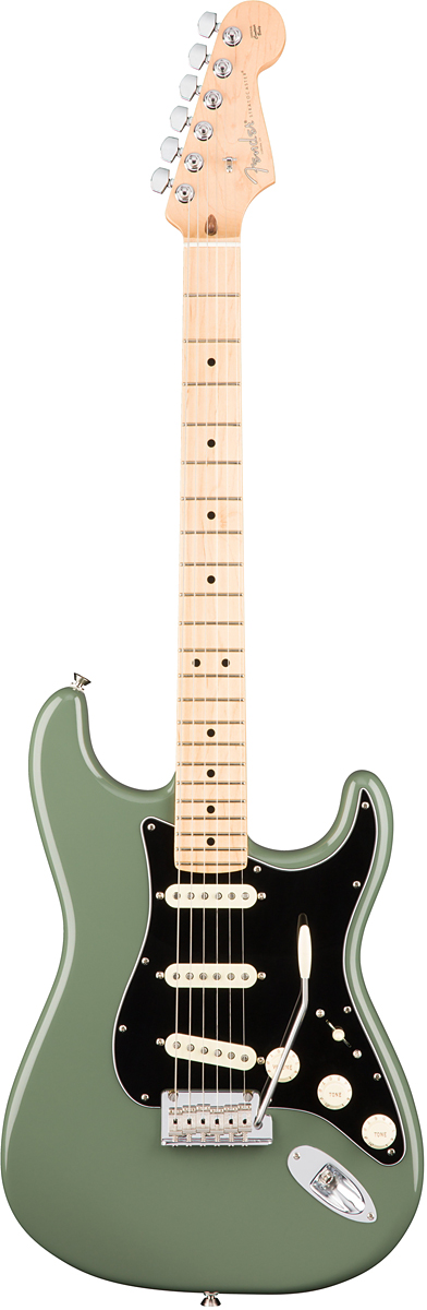 Fender USA American Professional Stratocaster - Antique Olive / Maple - 新品 《レビューを書いて特典プレゼント!!》[フェンダー][アメリカンプロフェッショナル,アメプロ][アンティークオリーブグリーン,緑][ストラトキャスター][Electric Guitar,エレキギター]