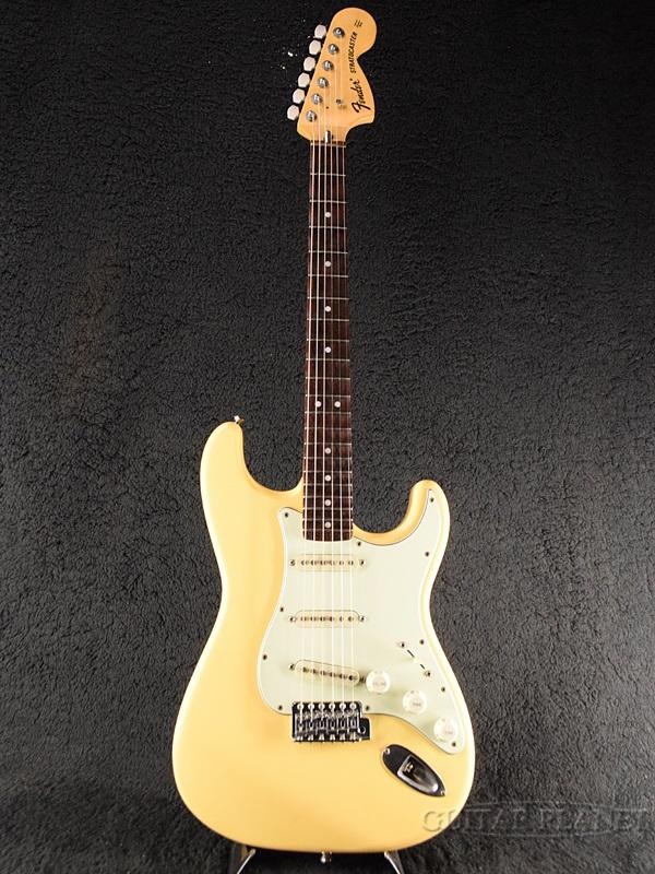 【中古】Fender Japan ST72-SC ''Mod.'' -YWH/R (Yellow White / Rosewood)- 2002-2004年製[フェンダージャパン][スキャロップ][イエローホワイト,黄,白][Stratocaster,ストラトキャスター][Electric Guitar,エレキギター][ST72SC]【used_エレキギター】