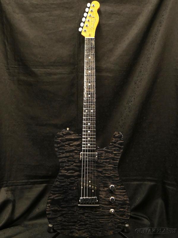 【中古】Fender Custom Shop MBS Custom Quilt Maple Telecaster N.O.S. -Ebony Transparent- by Yuriy Shishkov 2016年製[フェンダーカスタムショップ][Black,ブラック,黒,杢目][ユーリ・シスコフ][TL,テレキャスター][Electric Guitar,エレキギター]