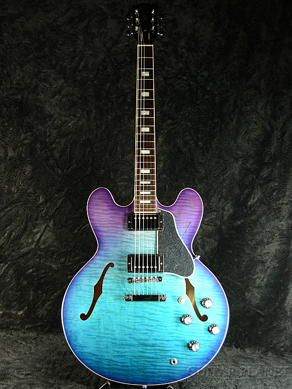 Gibson Memphis ES-335 Figured 2019 -Blueberry Burst- 新品[ギブソン][メンフィス][ES335][ブルーベリーバースト,青][セミアコ][Electric Guitar,エレキギター]