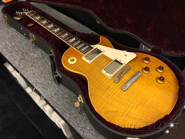 【中古】Gibson Custom Shop ~Historic Collection~ 1958 Les Paul Figured top Reissue -Lemon Burst- 2002年製[ギブソンカスタムショップ][Les Paul,レスポールタイプ][レモンバースト][Electric Guitar,エレキギター]【used_エレキギター】