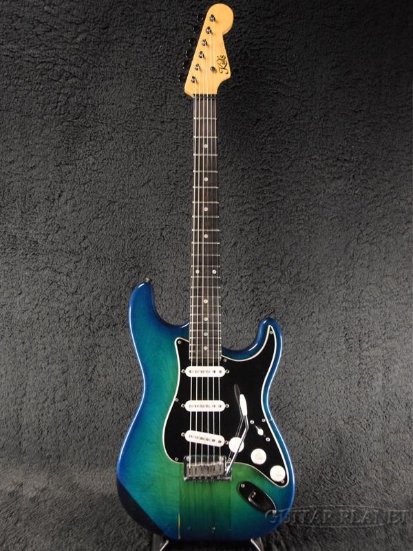 【中古】Kid's ST type -Blue Burst / Ebony- 1990年代頃製[キッズ][国産][ブルーバースト,青][Stratocaster,ストラトキャスタータイプ][Electric Guitar,エレキギター]【used_エレキギター】